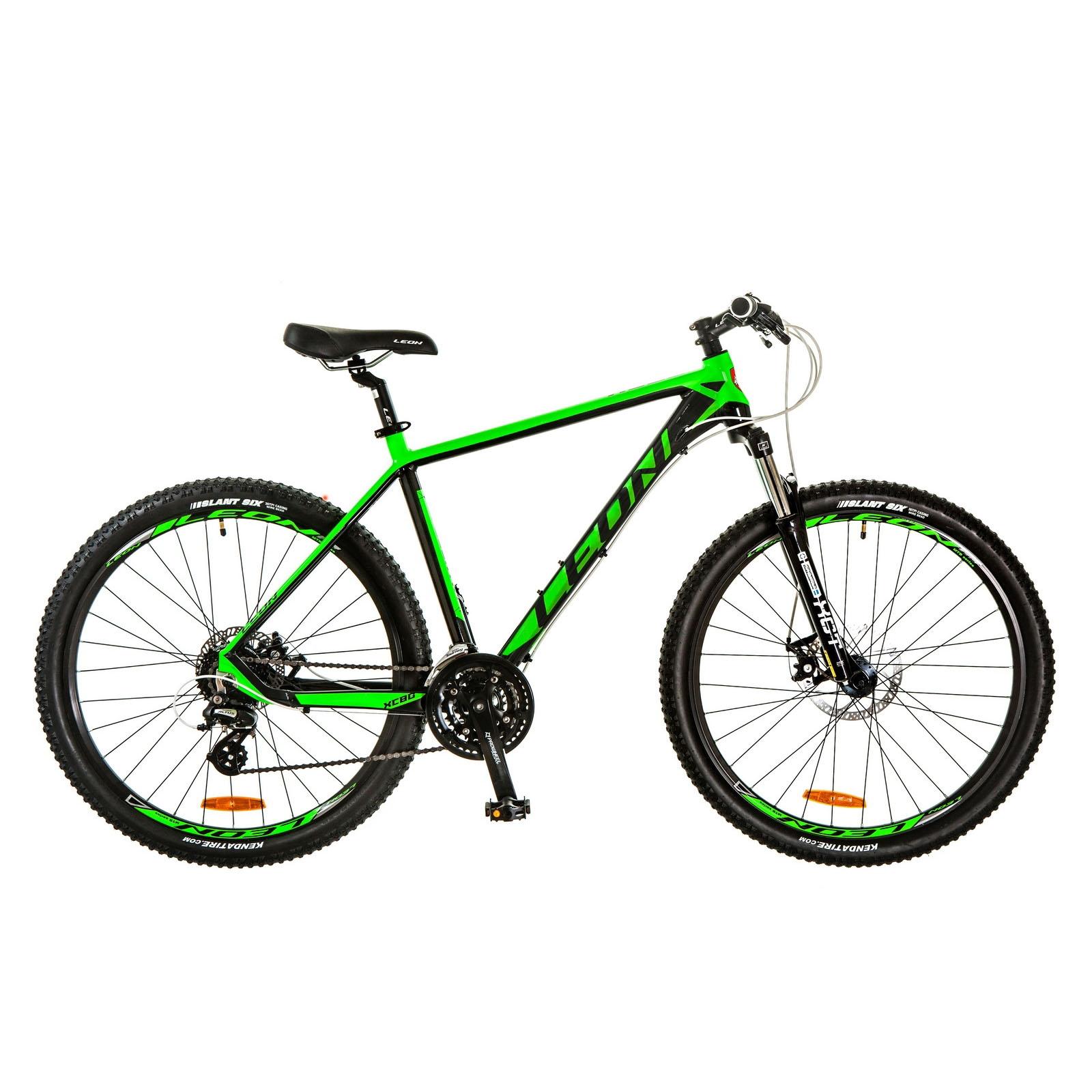 Фото Горный Велосипед 27.5 Leon XC-80 черно-зеленый 2017