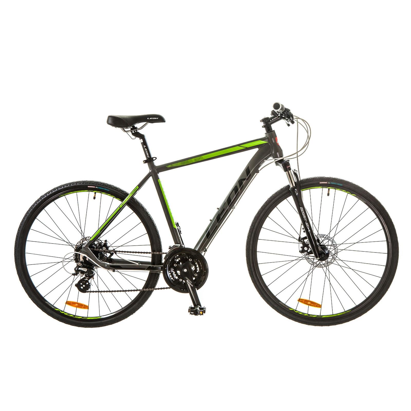 Фото Горный Велосипед 28 Leon HD-80 DD серо-зеленый 2017