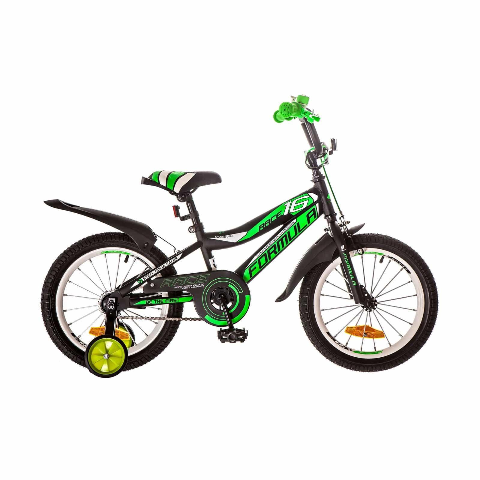 Фото Детский Велосипед 16 Formula RACE черно-салатный