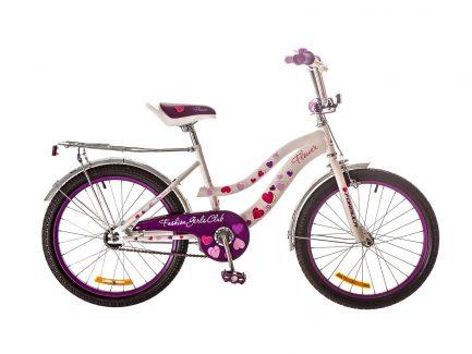 Фото Детский Велосипед 20 Formula FLOWER бело-фиолетовый