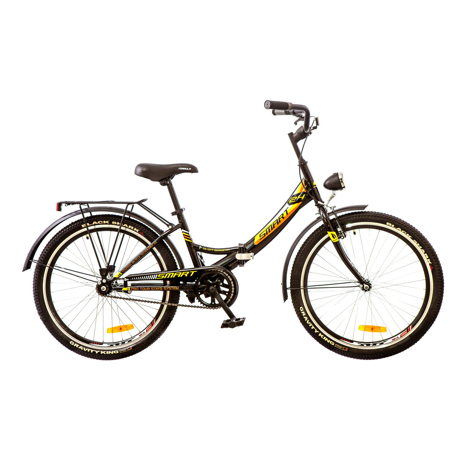 Фото Городской Велосипед 24 Formula SMART черно-оранжевый 2018