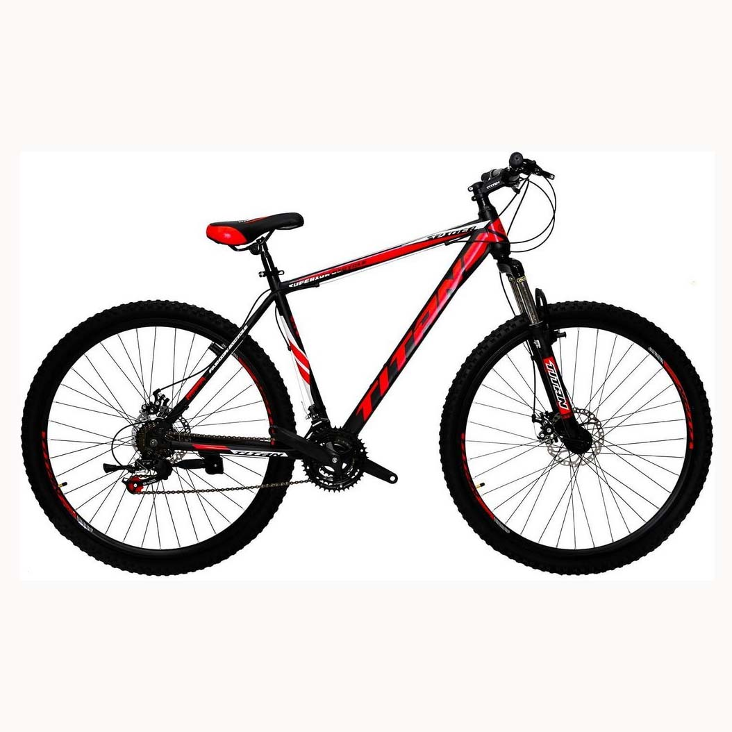 Фото Горный Велосипед Titan Spider 29 черно-красно-белый