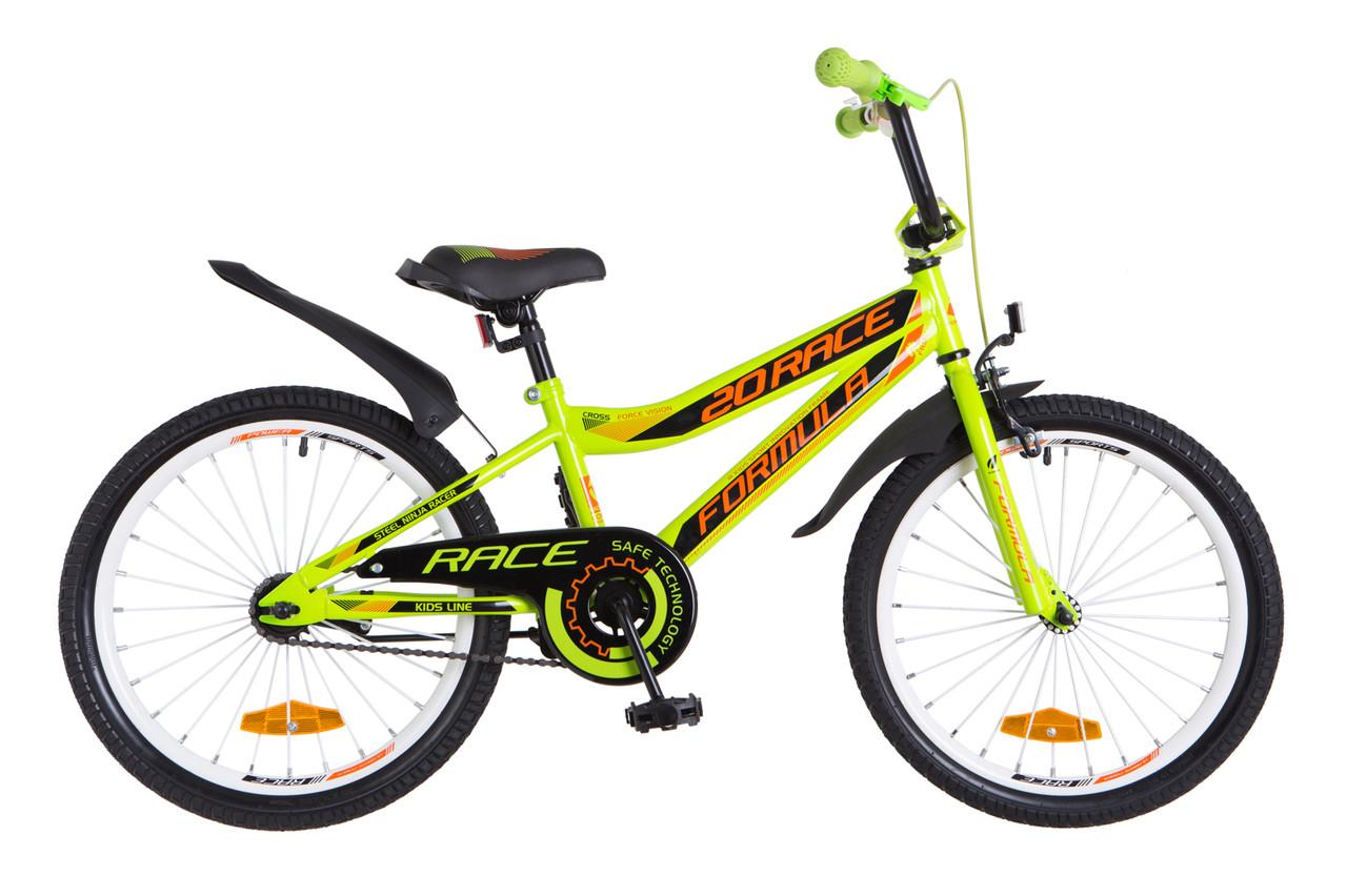 Фото Детский Велосипед 20 Formula RACE зелено-оранжевый