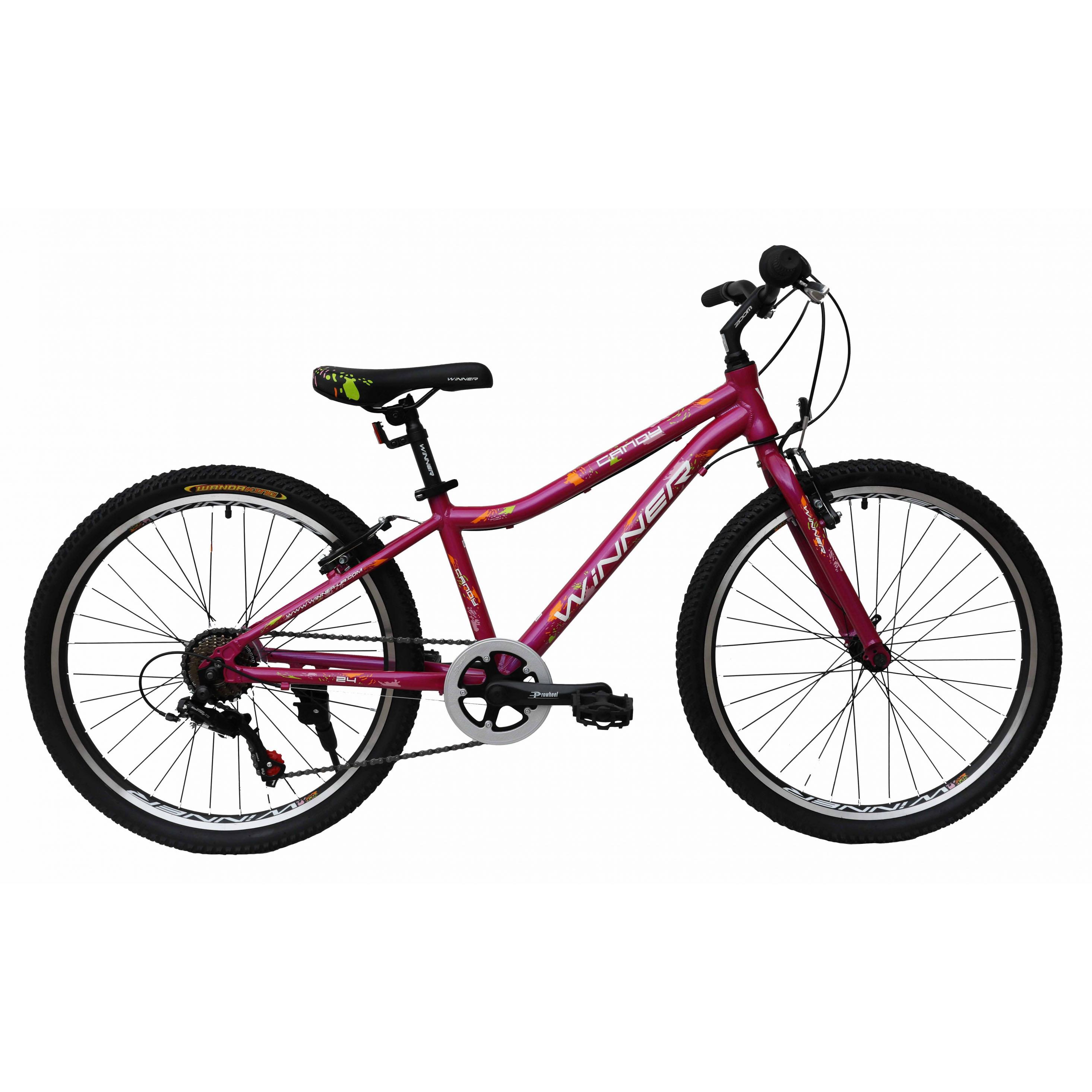 Фото Подростковый  Велосипед Winner 24″ CANDY 13″ (розовый)