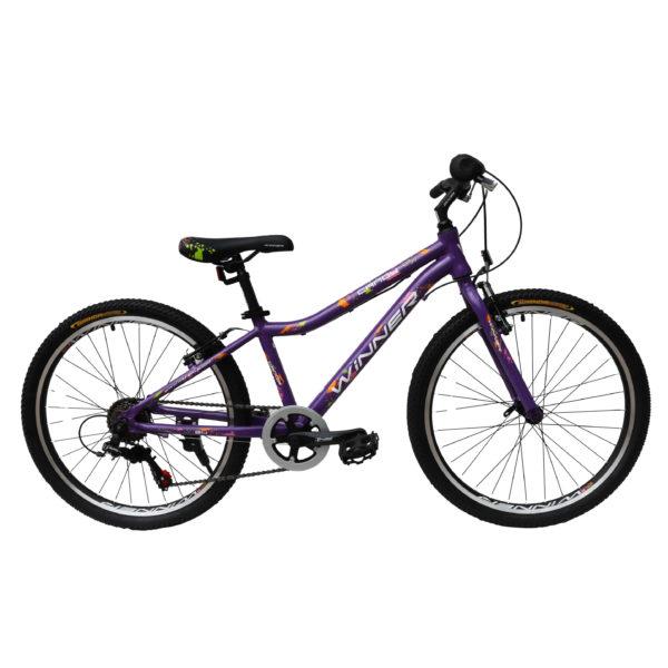 """Фото Подростковый Велосипед Winner 24"""" CANDY 13"""" (фиолетовый)"""