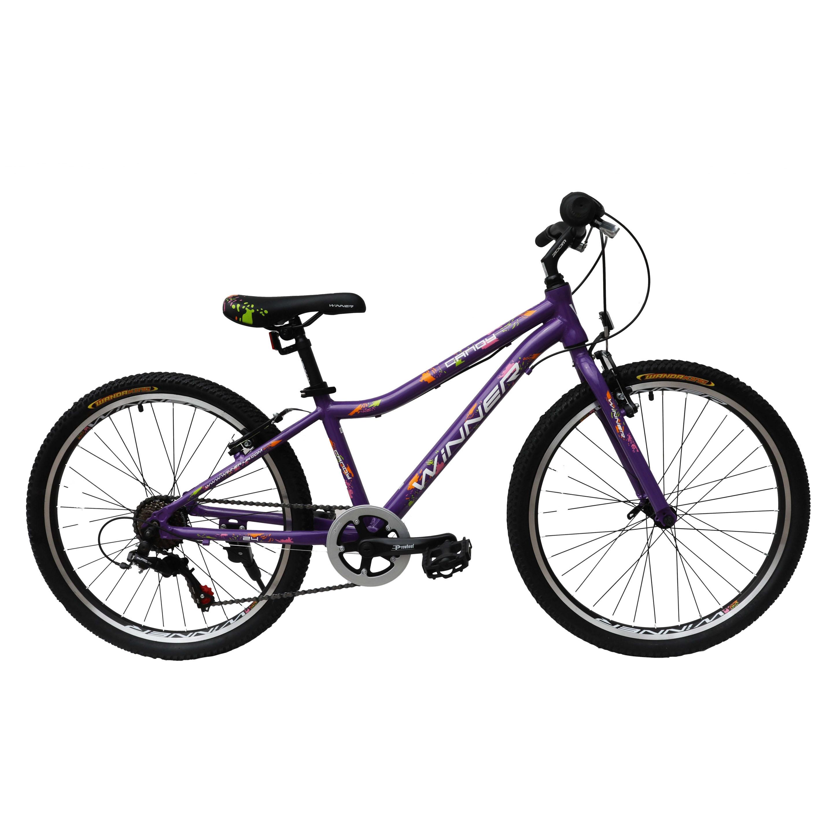 Фото Подростковый Велосипед Winner 24″ CANDY 13″ (фиолетовый)