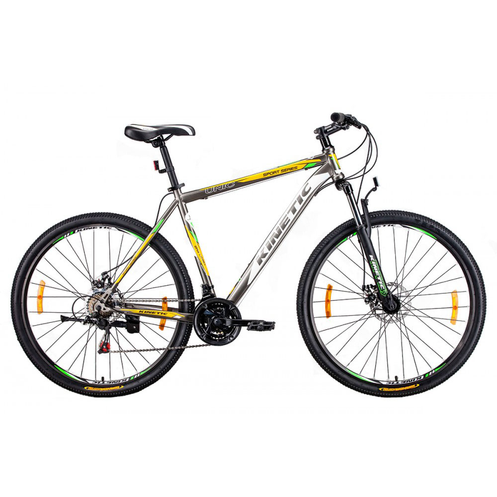 Фото Горный Велосипед Kinetic 29″ UNIC-steel 19″ (серо-желт)