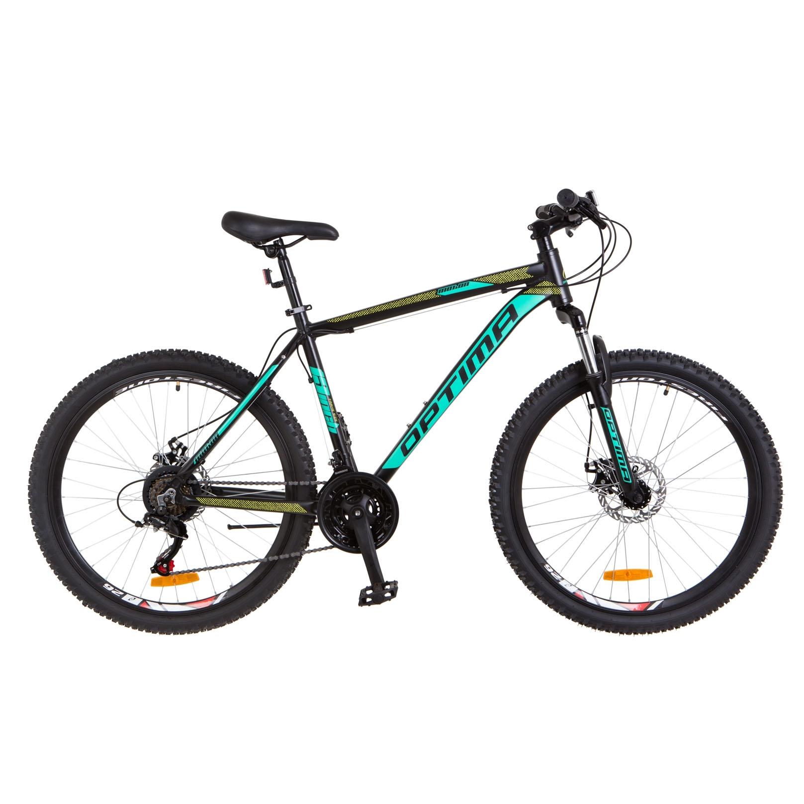 Фото Горный Велосипед 29 Optimabikes MOTION DD черно-бирюзово-салатным