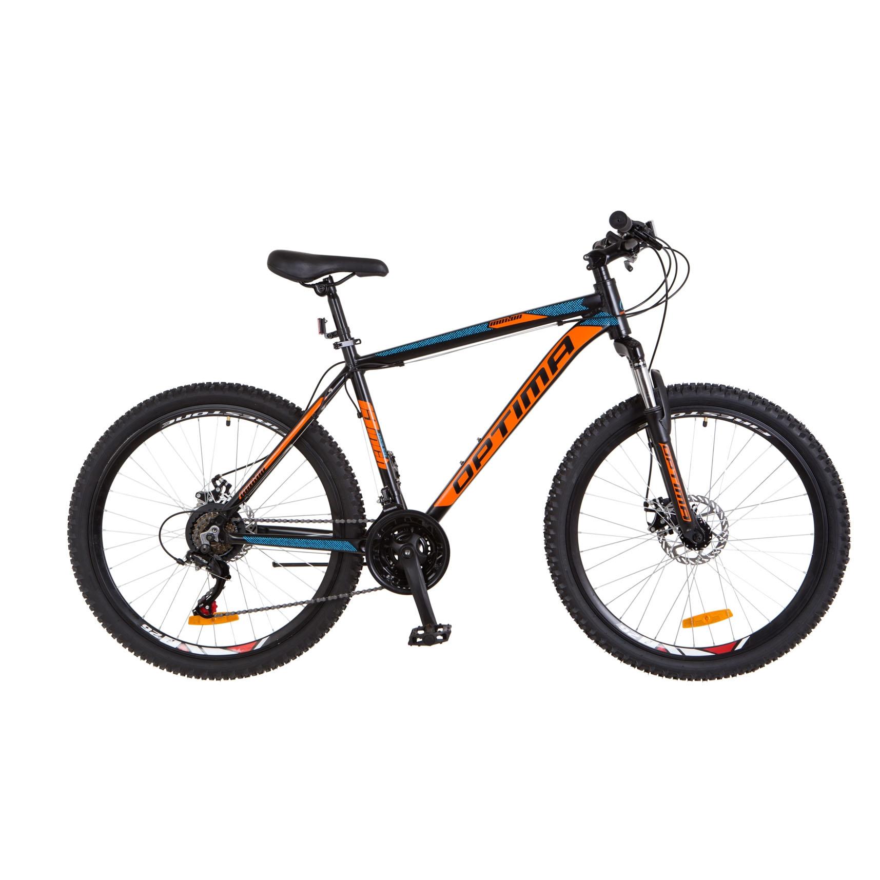 Фото Горный Велосипед 29 Optimabikes MOTION DD черно-оранжево-синий
