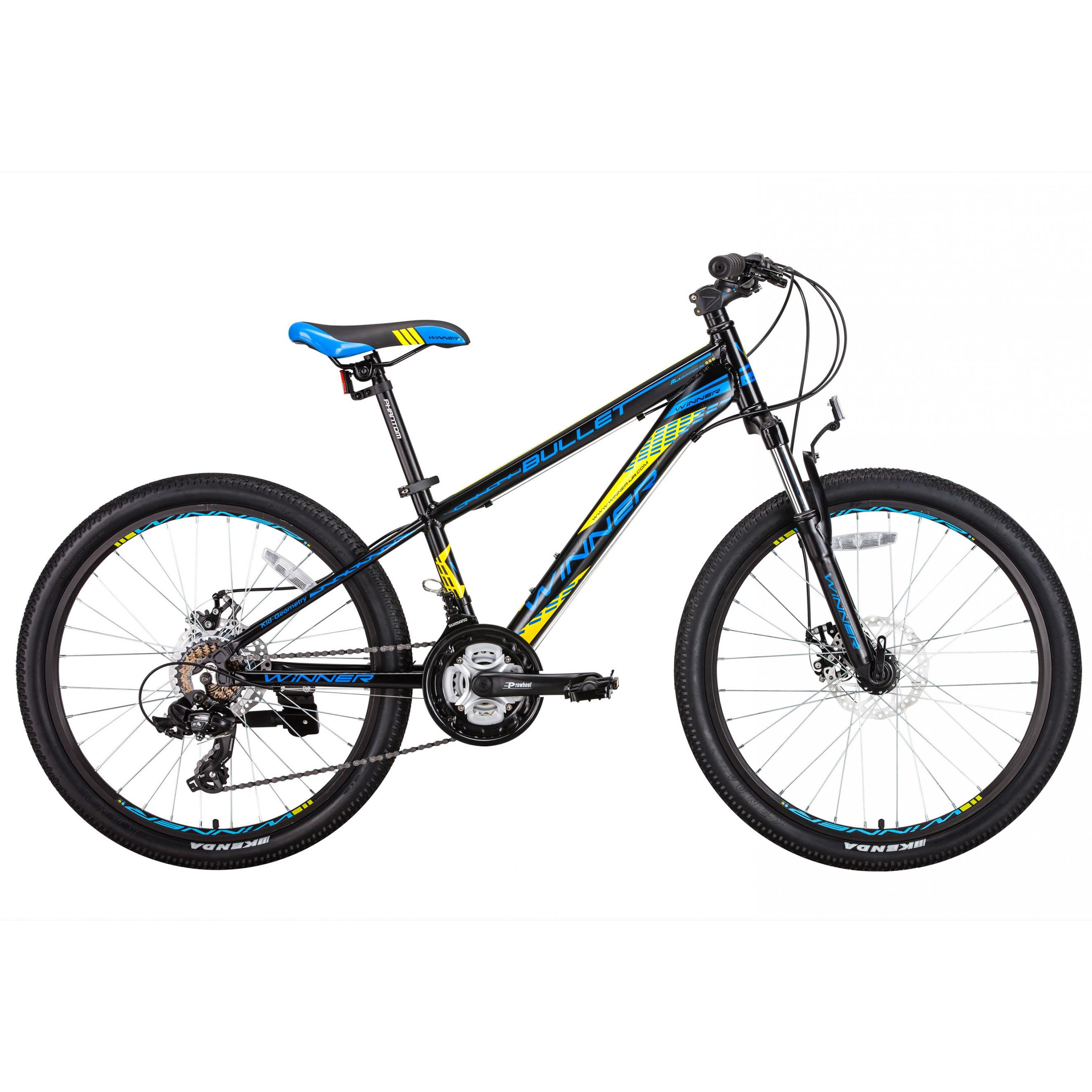 Фото Детский Велосипед Winner 24″ BULLET 12,5″ (черн)