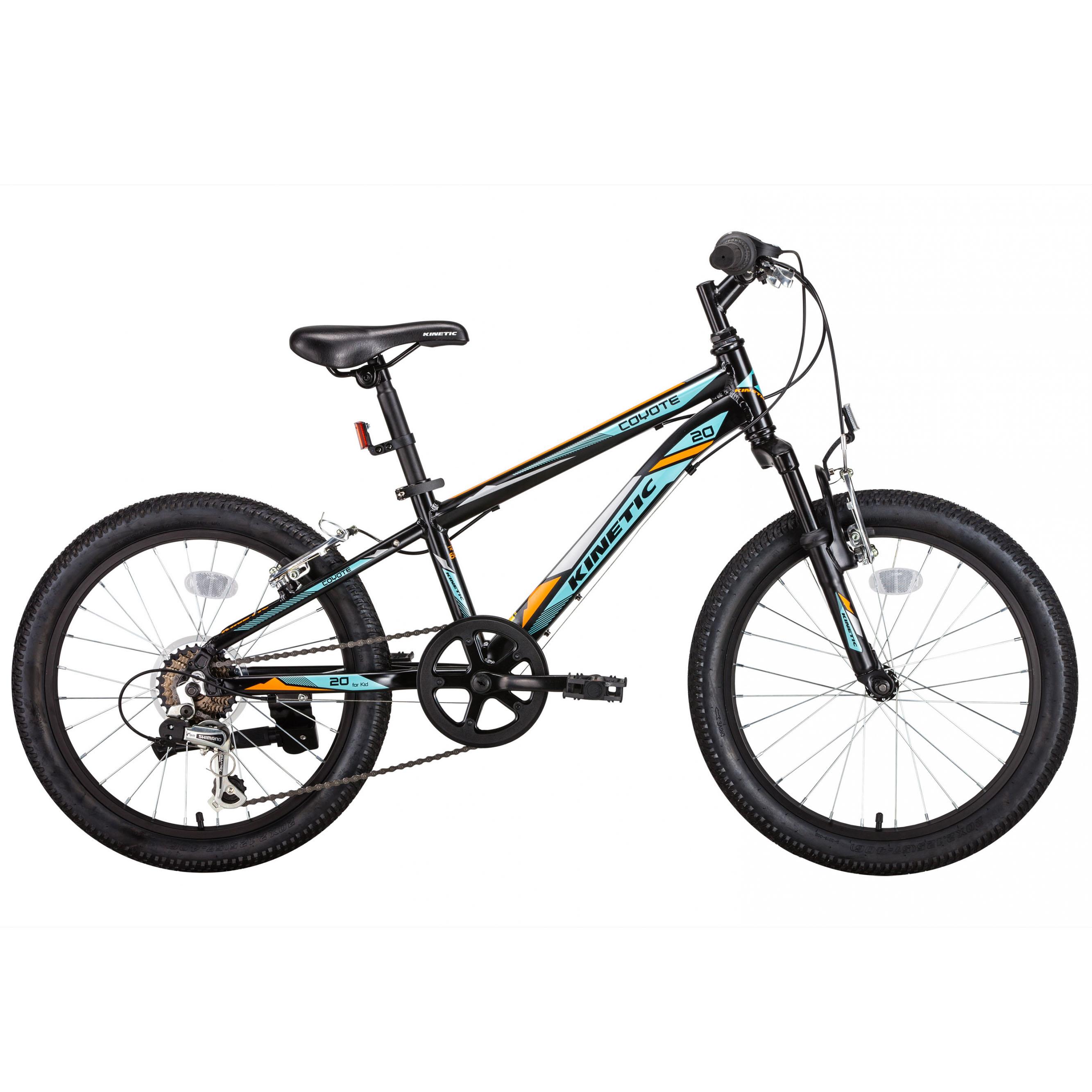 Фото Горный Детский Велосипед  Kinetic 20″ COYOTE  11″ (черн-голуб)