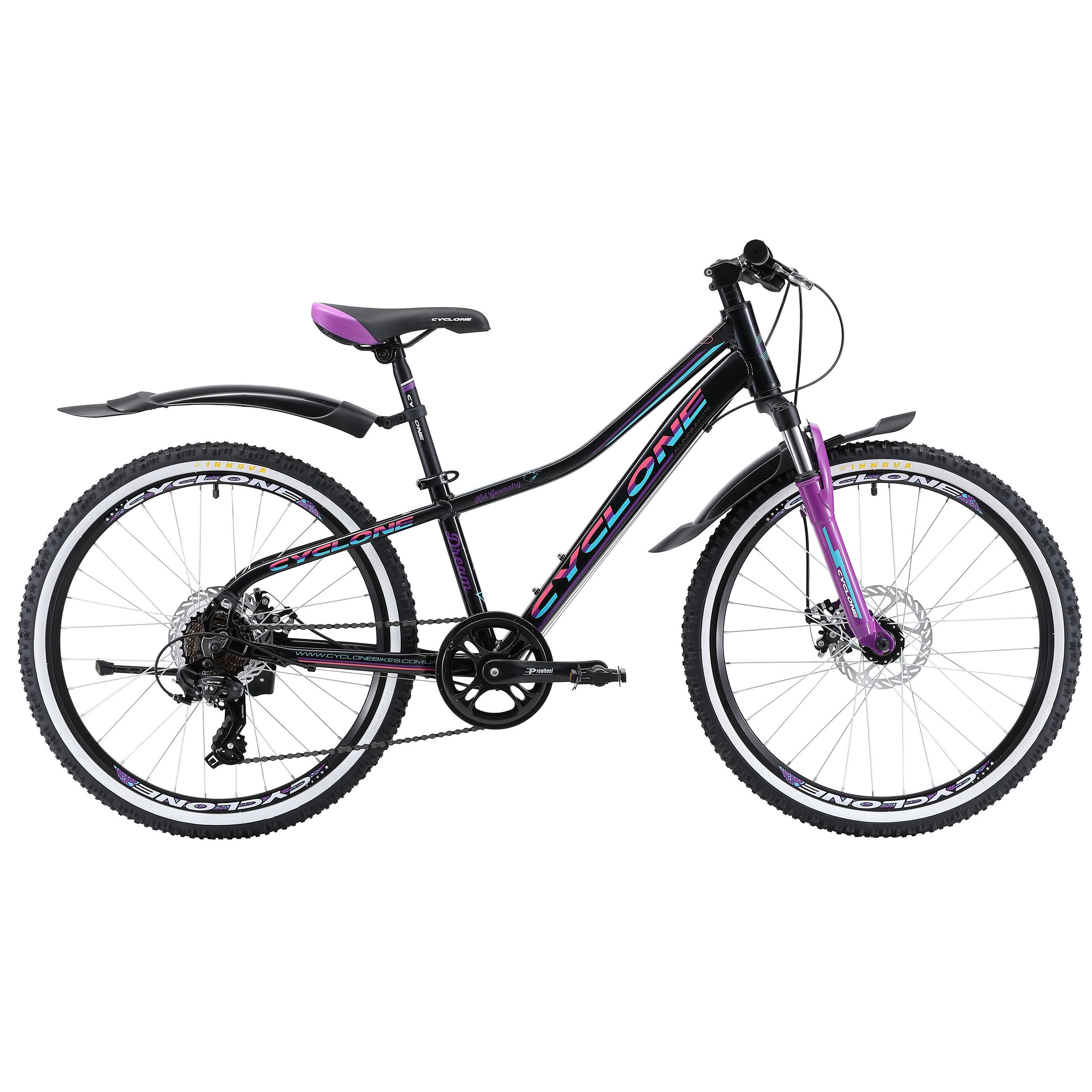 Фото Детский Велосипед Cyclone 24″ DREAM   2.0 (черн-фиолет)