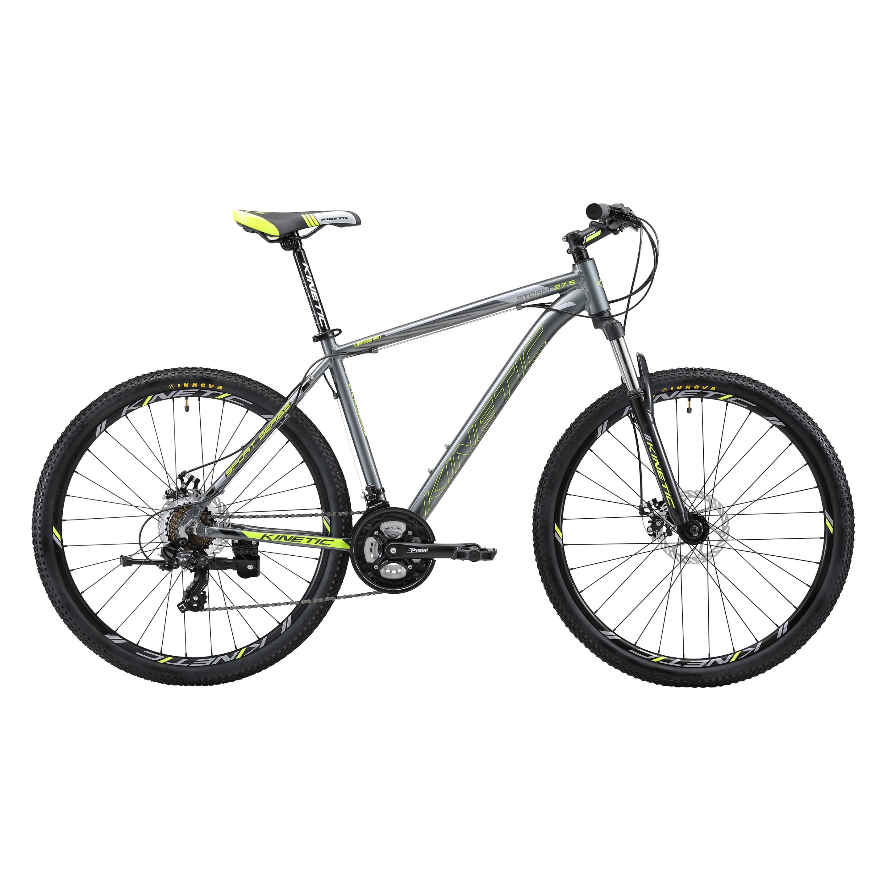 Фото Горный Велосипед Kinetic 27,5″ STORM  17″ (серо-зел)
