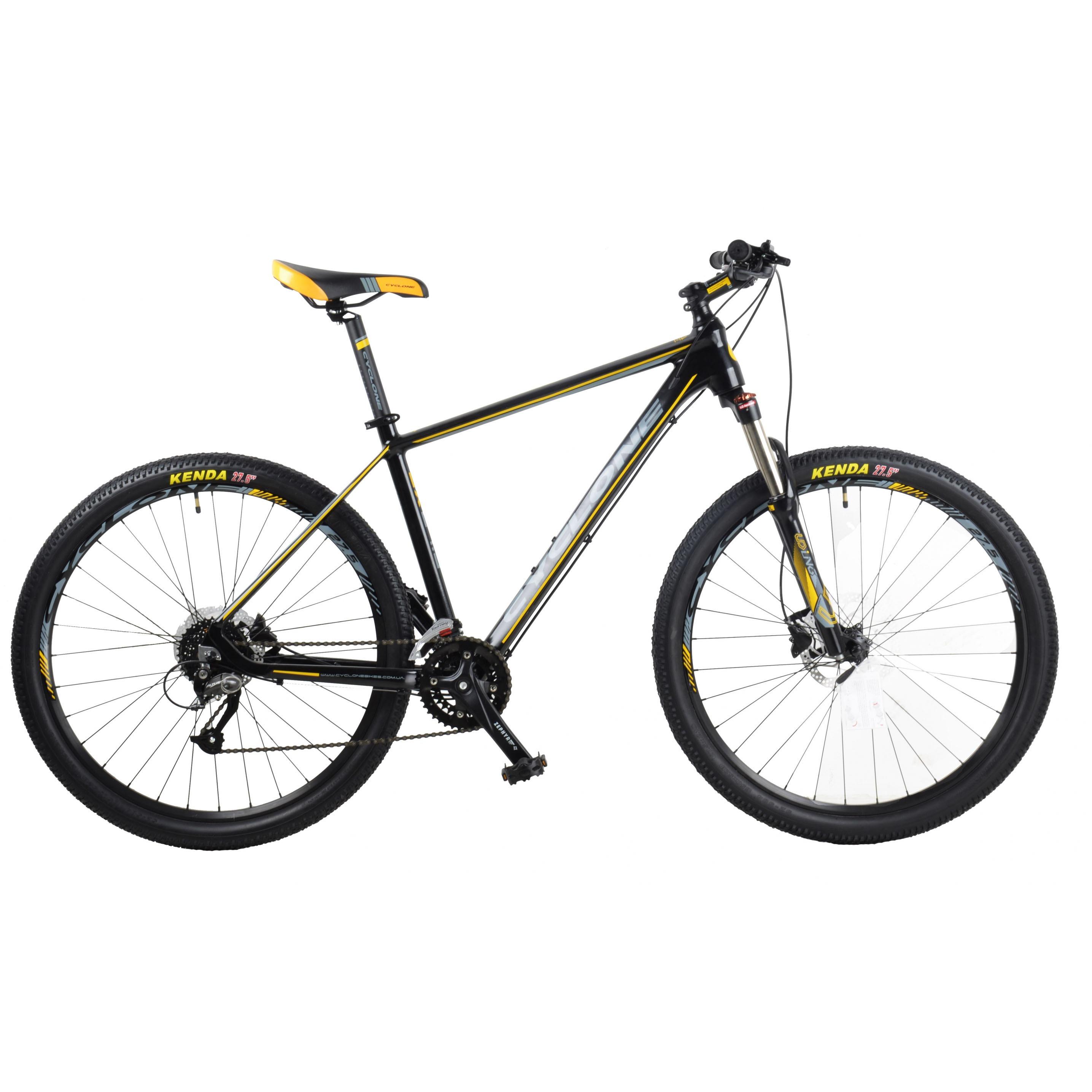 Фото Горный Велосипед CYCLONE 27,5″ SX 17″ (черн-желт)