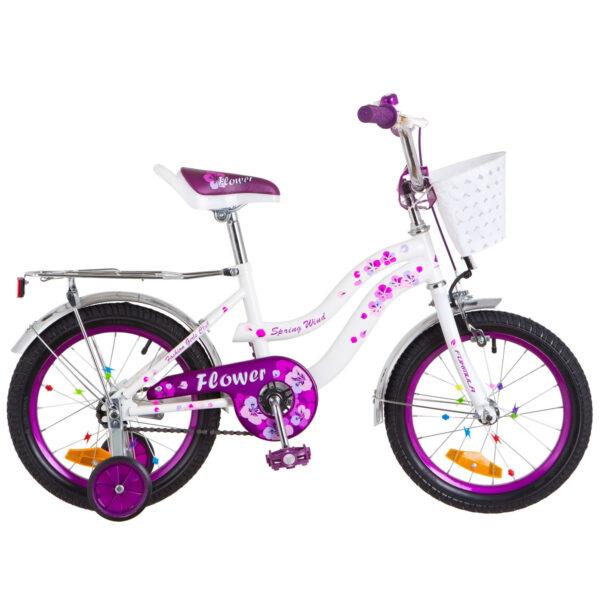 Фото Детский Велосипед 16 Formula FLOWER бело-фиолетовый 2018