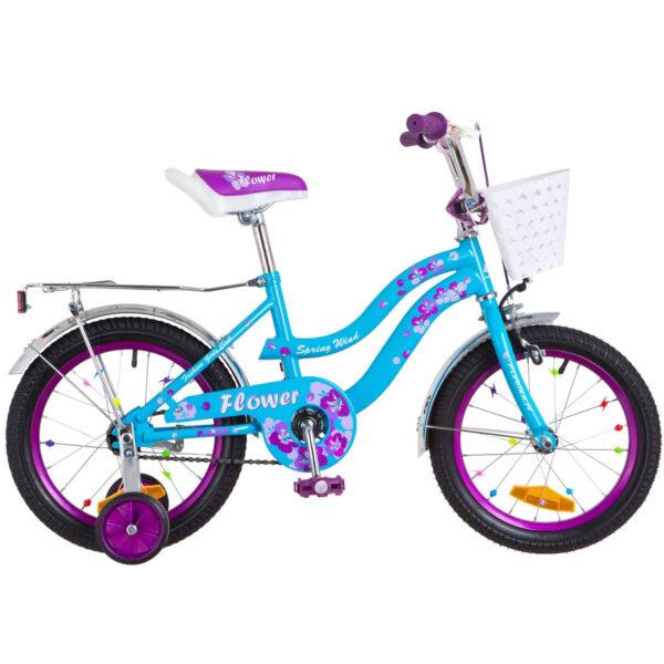 Фото Детский Велосипед 16 Formula FLOWER голубой с фиолетовым 2018