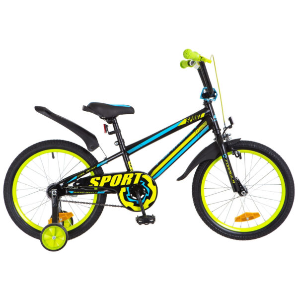 Фото Детский Велосипед 18 Formula SPORT черно-сине-салатный 2018