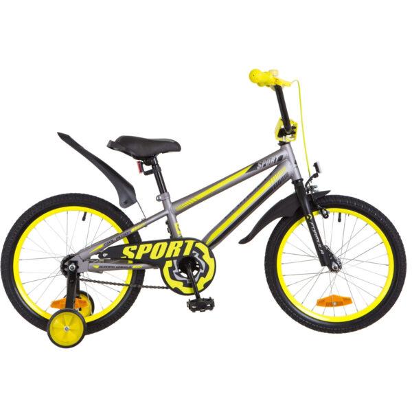 Фото Детский Велосипед 18 Formula SPORT серо-черный с желтым 2018