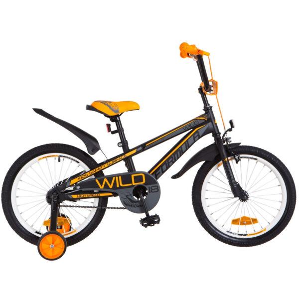 Фото Детский Велосипед 18 FORMULA WILD черно-оранжевый 2018
