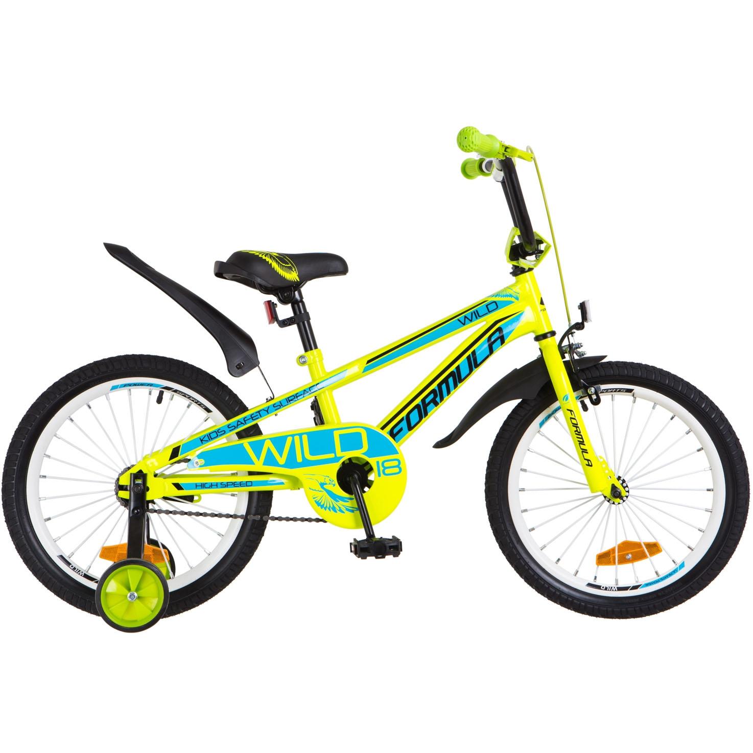 Фото Детский Велосипед 18 FORMULA WILD салатно-синий 2018