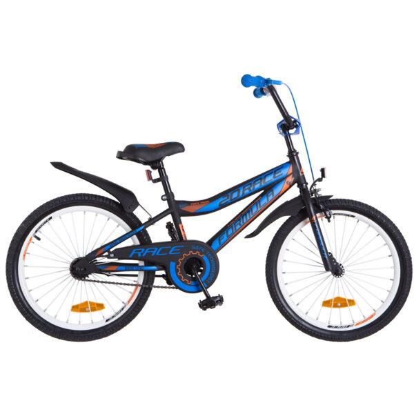 Фото Детский Велосипед 16 Formula RACE черно-синий с оранжевым 2018