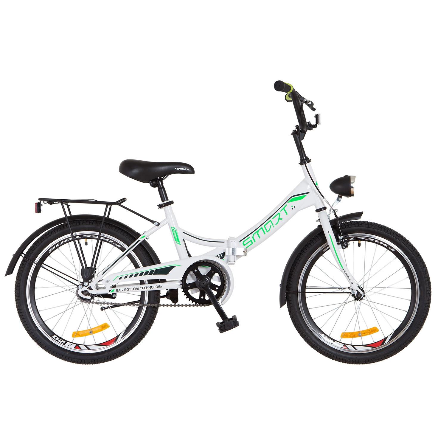 Фото Детский Велосипед 20 Formula SMART бело-зеленый 2018