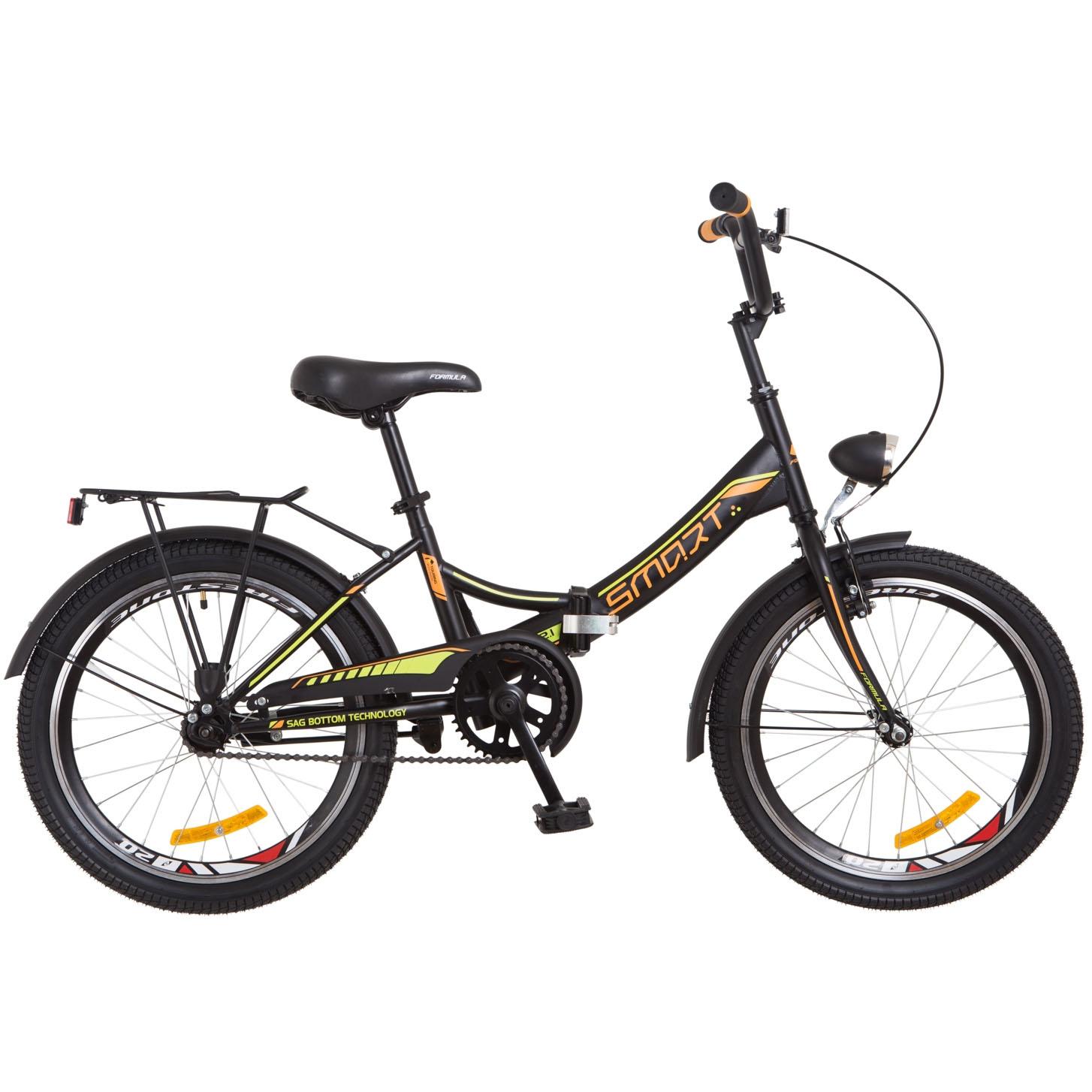 Фото Городской Велосипед 20 Formula SMART черно-оранжевый 2018