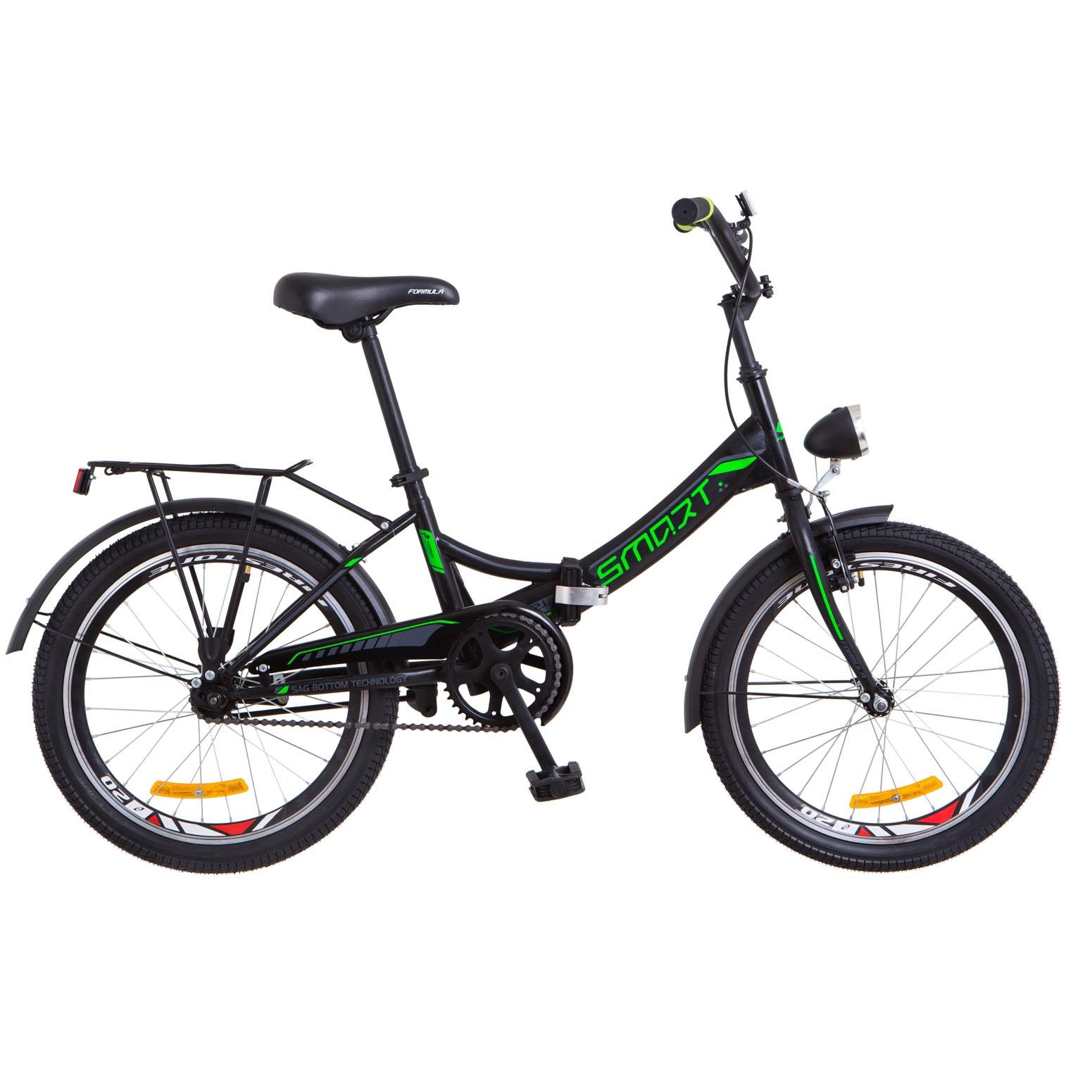 Фото Подростковый  Велосипед 20 Formula SMART черно-зеленый 2018