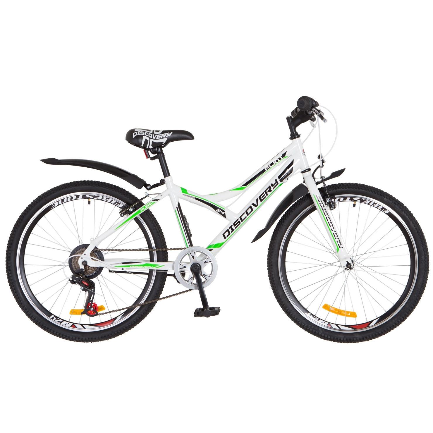 Фото Горный Велосипед 24 Discovery FLINT бело-зеленый 2018