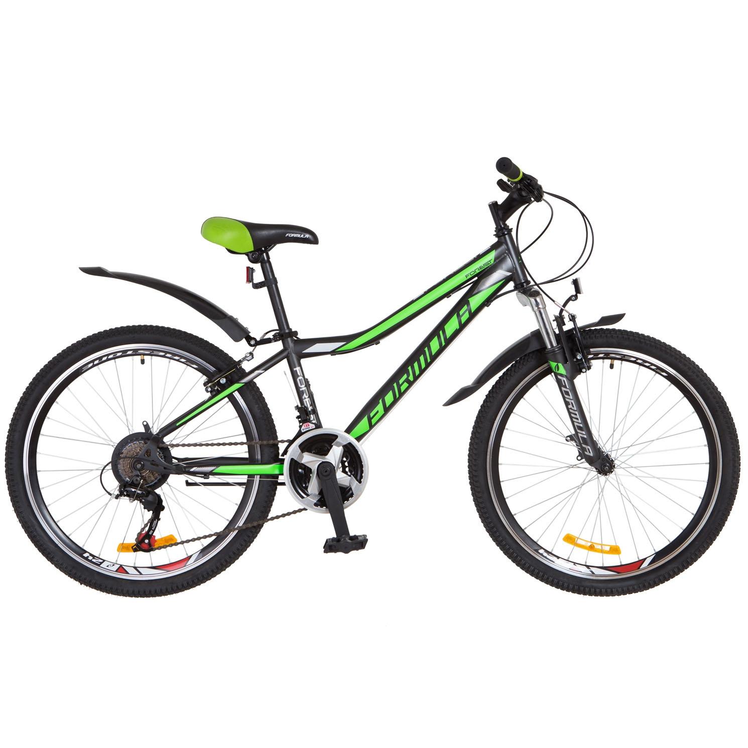Фото Горный Велосипед 24 Formula FOREST черно-зеленый 2018