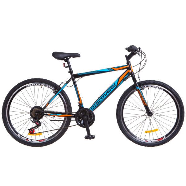 Фото Городской Велосипед 26 Discovery ATTACK черно-синий с оранжевым 2018
