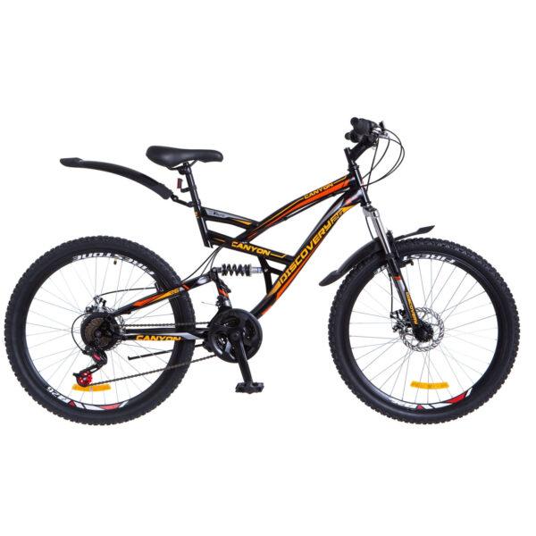 Фото Горный Велосипед 26 Discovery CANYON  DD черно-оранжевый 2018