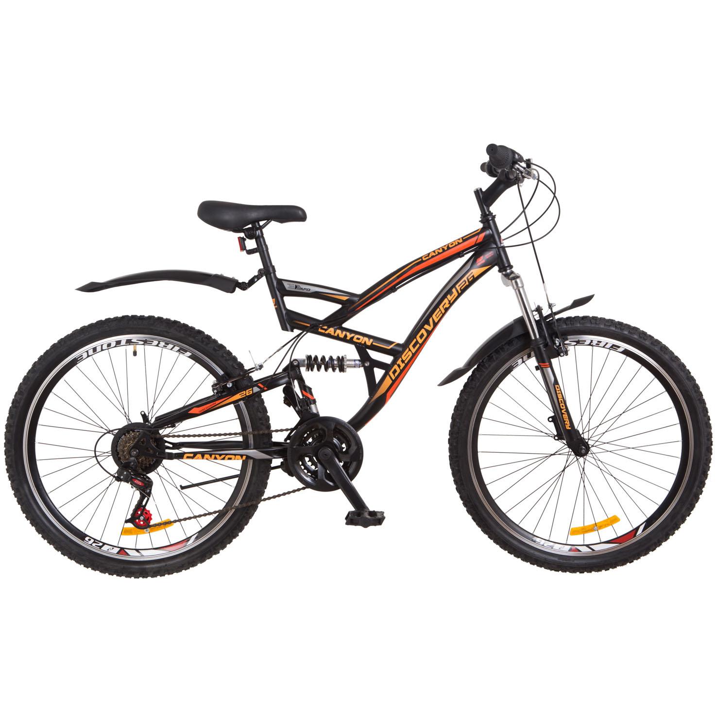 Фото Горный Велосипед 26 Discovery CANYON черно-оранжевый 2018