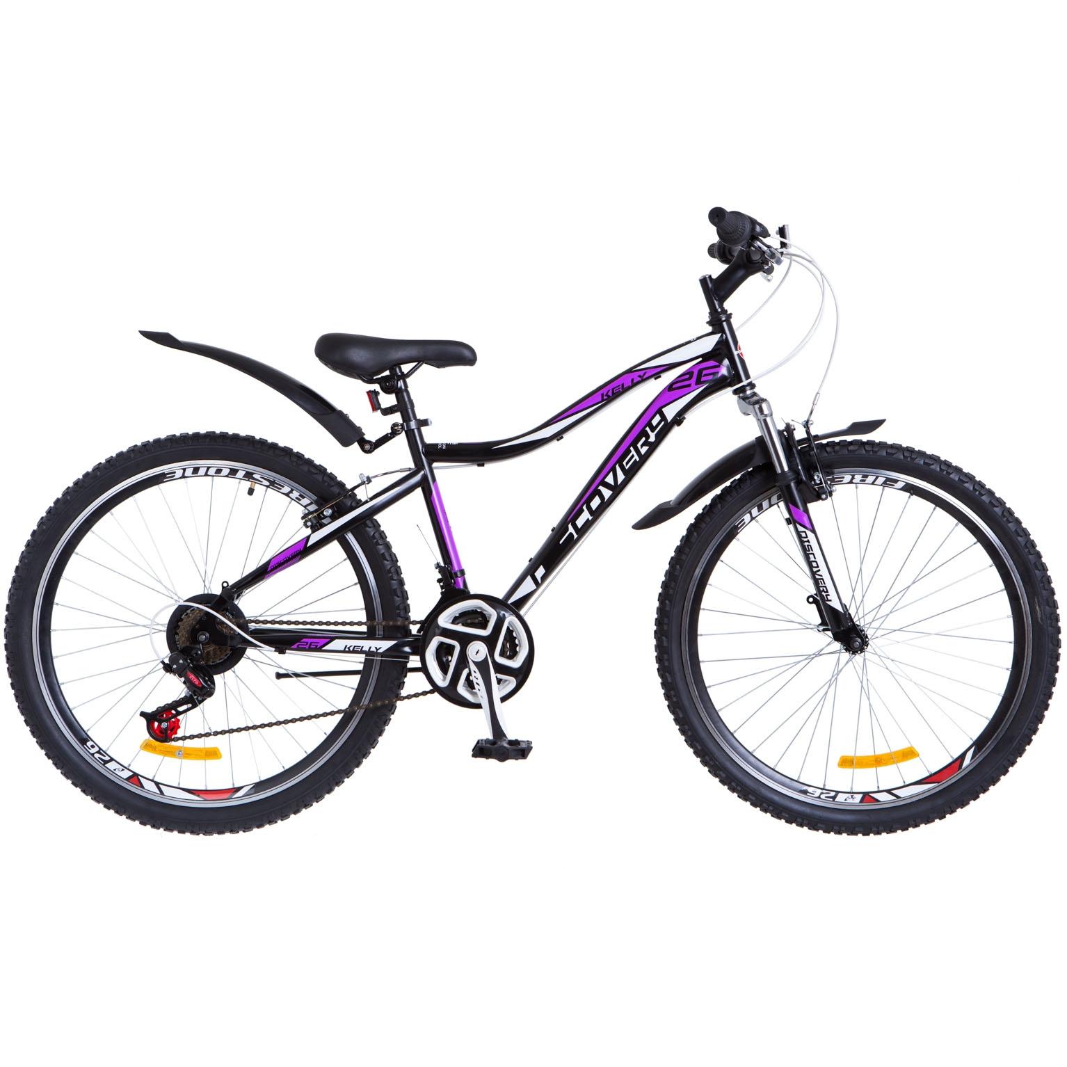 Фото Горный Велосипед 26 Discovery KELLY черно-фиолетовый 2018