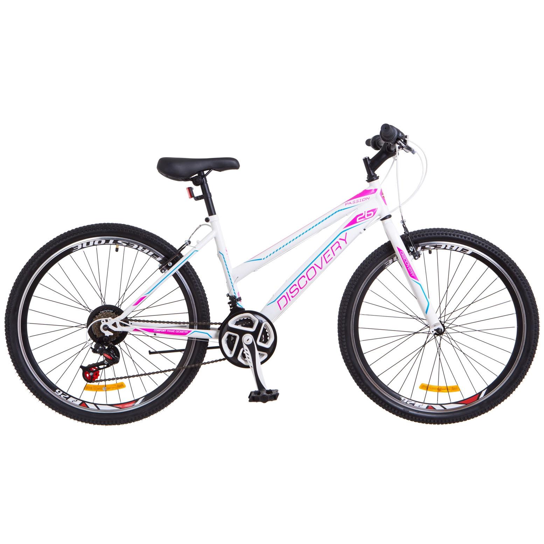Фото Женский Велосипед 26 Discovery PASSION бело-фиолетовый 2018