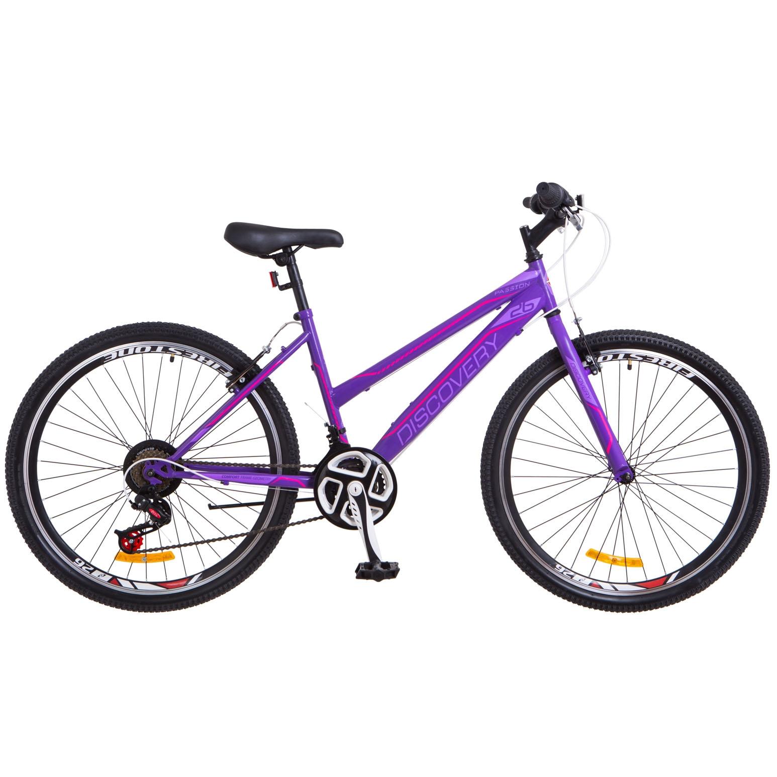 Фото Женский Велосипед 26 Discovery PASSION фиолетовый 2018