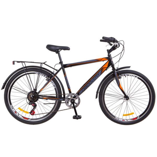 Фото Городской Велосипед 26 Discovery PRESTIGE MAN черно-оранжевый 2018