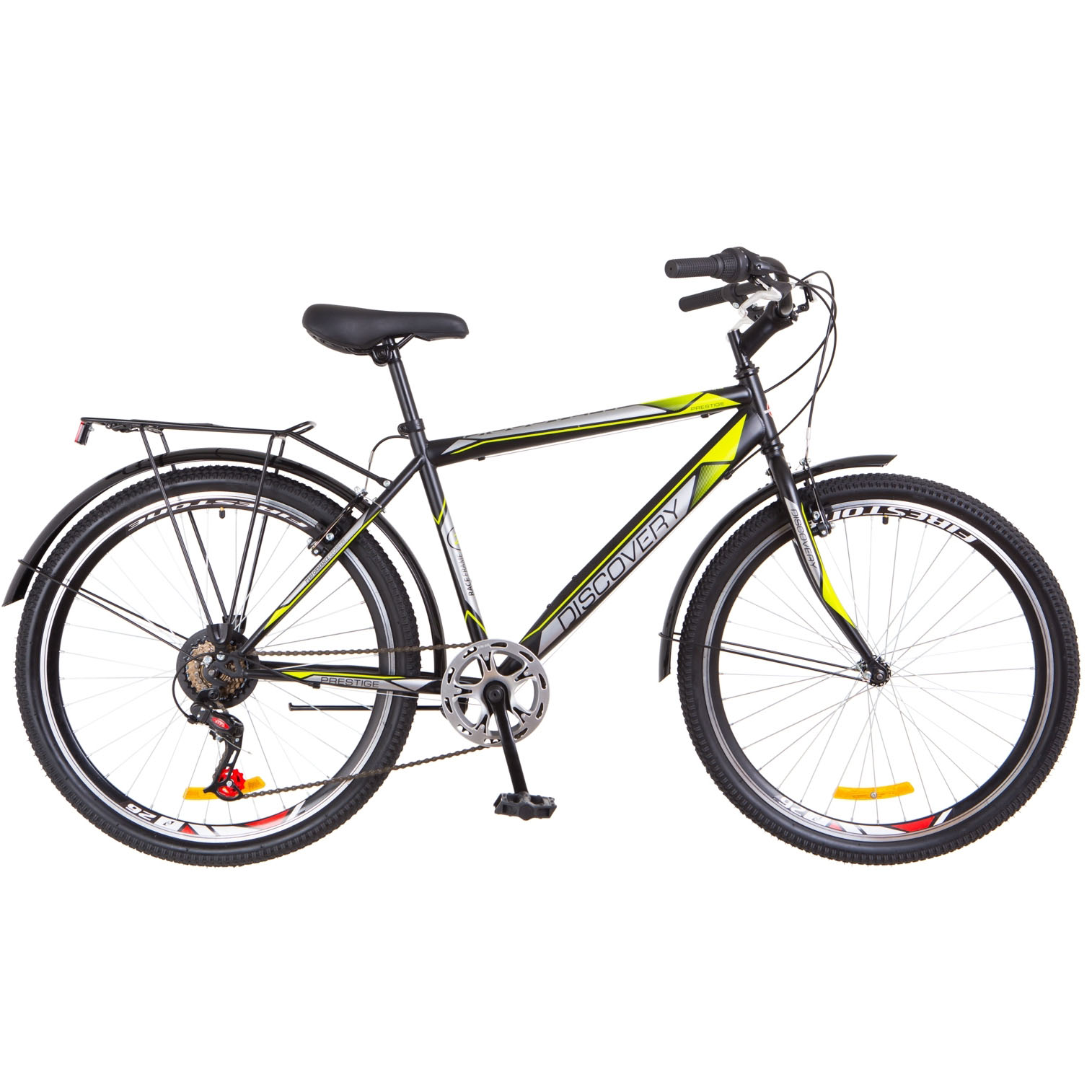 Фото Городской Велосипед 26 Discovery PRESTIGE MAN черно-желтый 2018