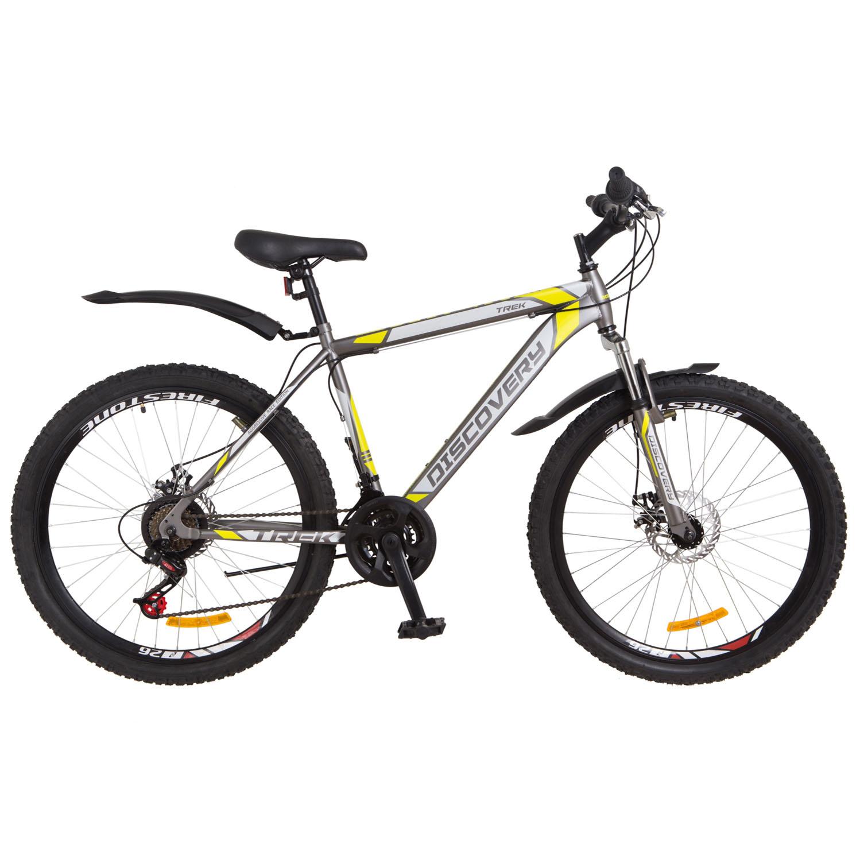 Фото Горный Велосипед 26 Discovery TREK DD серо-желтый 2018