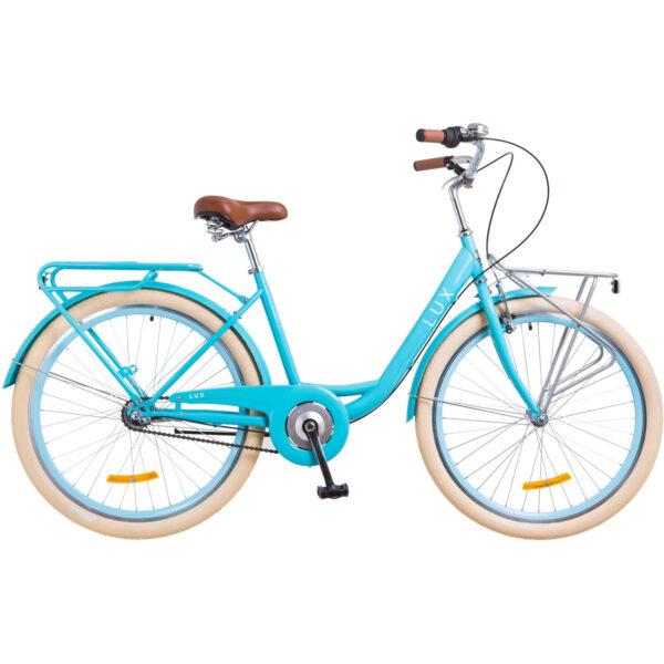 Фото Городской Велосипед 26 Dorozhnik LUX планет. голубой 2018