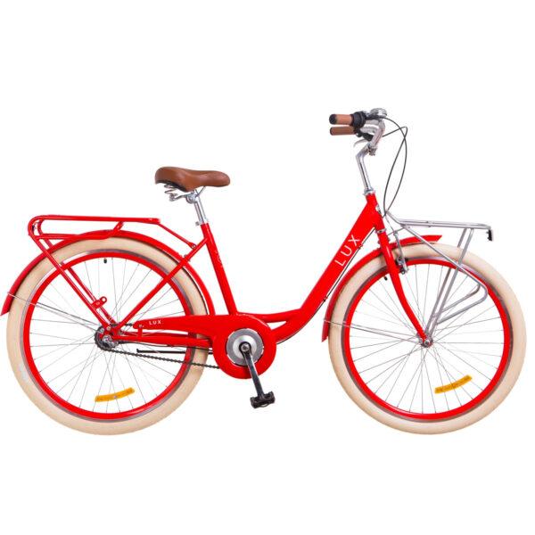 Фото Городской Велосипед 26 Dorozhnik LUX красный 2018