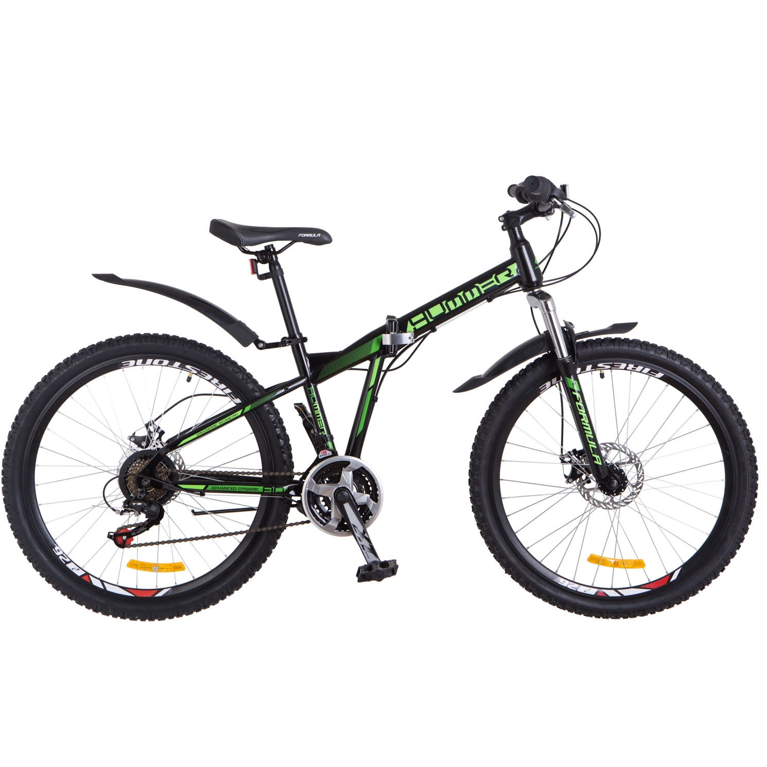 Фото Горный Велосипед 26 Formula HUMMER черно-зеленый 2018