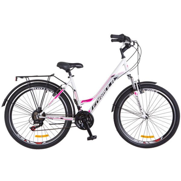 Фото Женский Велосипед 26 Formula OMEGA бело-розовый 2018