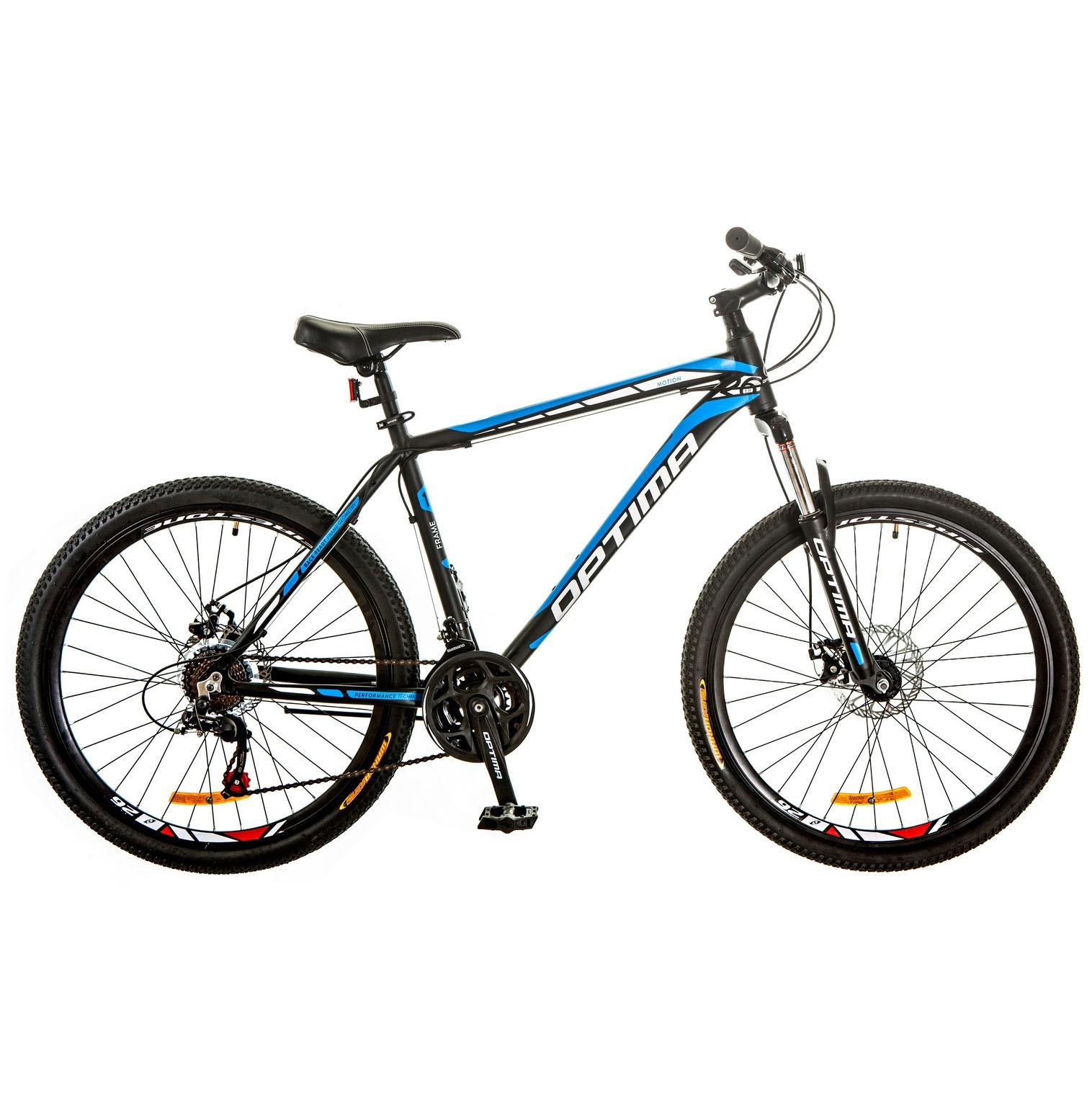 Фото Горный Велосипед 26 Optimabikes MOTION DD  черно-синий