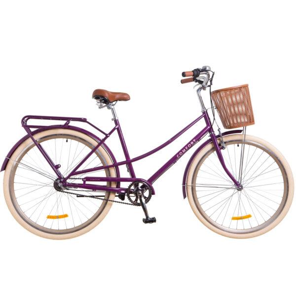 Фото Городской Велосипед 28 Dorozhnik COMFORT FEMALE план. фиолетовый