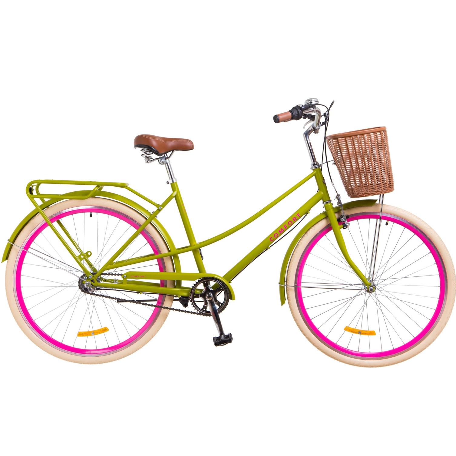 Фото Городской Велосипед 28 Dorozhnik COMFORT FEMALE салатный