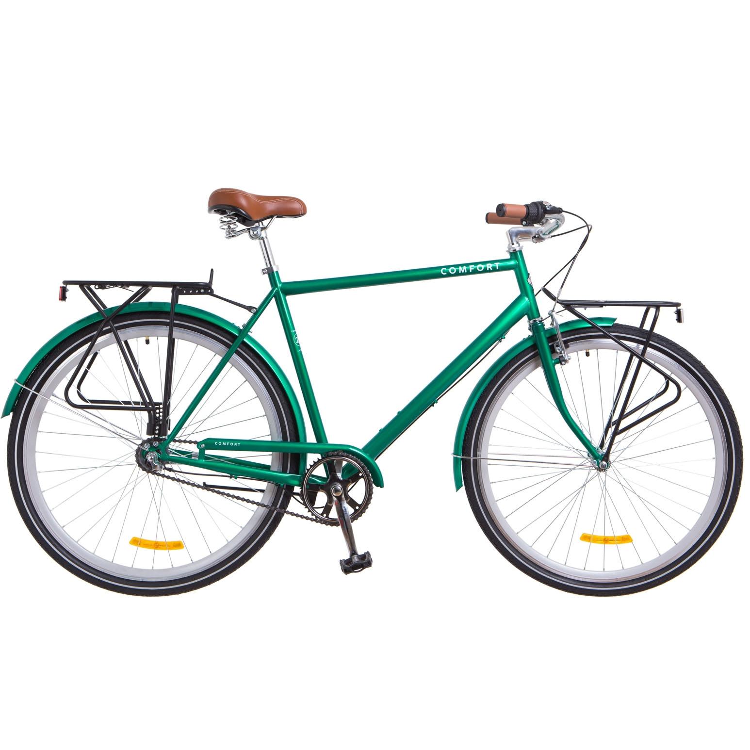 Фото Городской Велосипед 28 Dorozhnik COMFORT MALE планет. зеленый