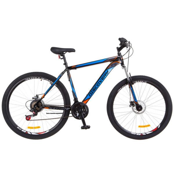 Фото Горный Велосипед 29 Discovery TREK DD черно-оранжевый с синим 2018