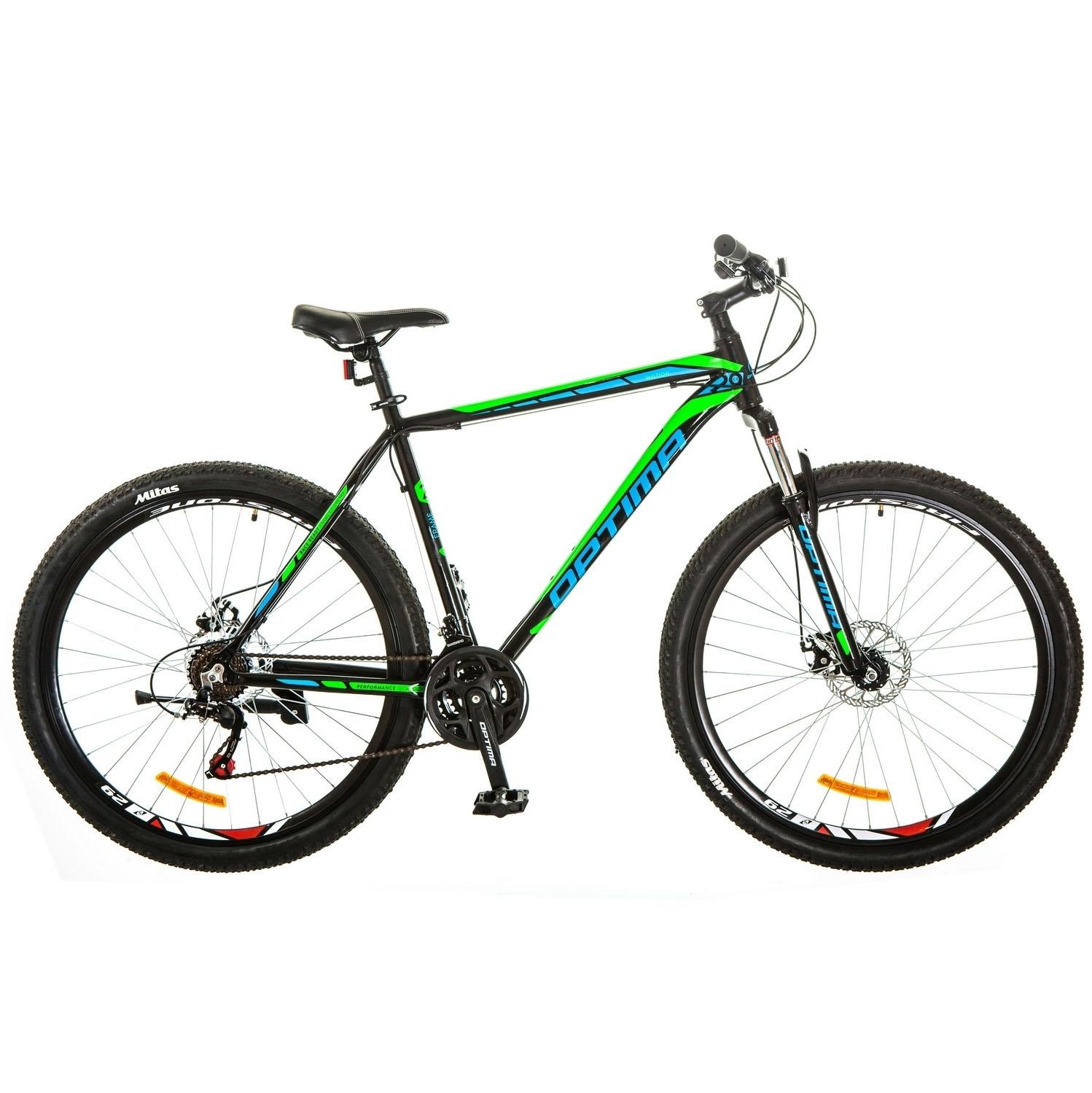 Фото Горный Велосипед 29 Optimabikes MOTION DD черно-зеленый