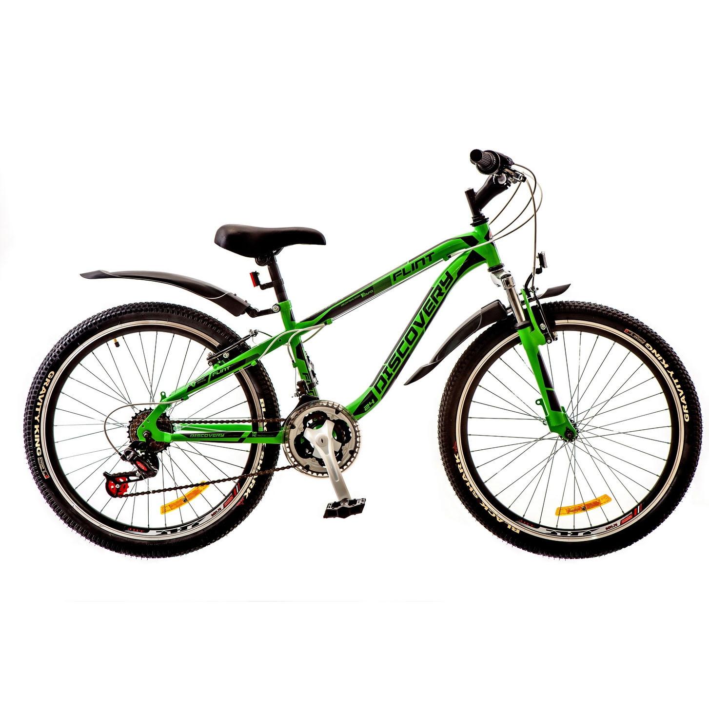 Фото Горный Велосипед 24 Discovery FLINT зелено-черный 2018
